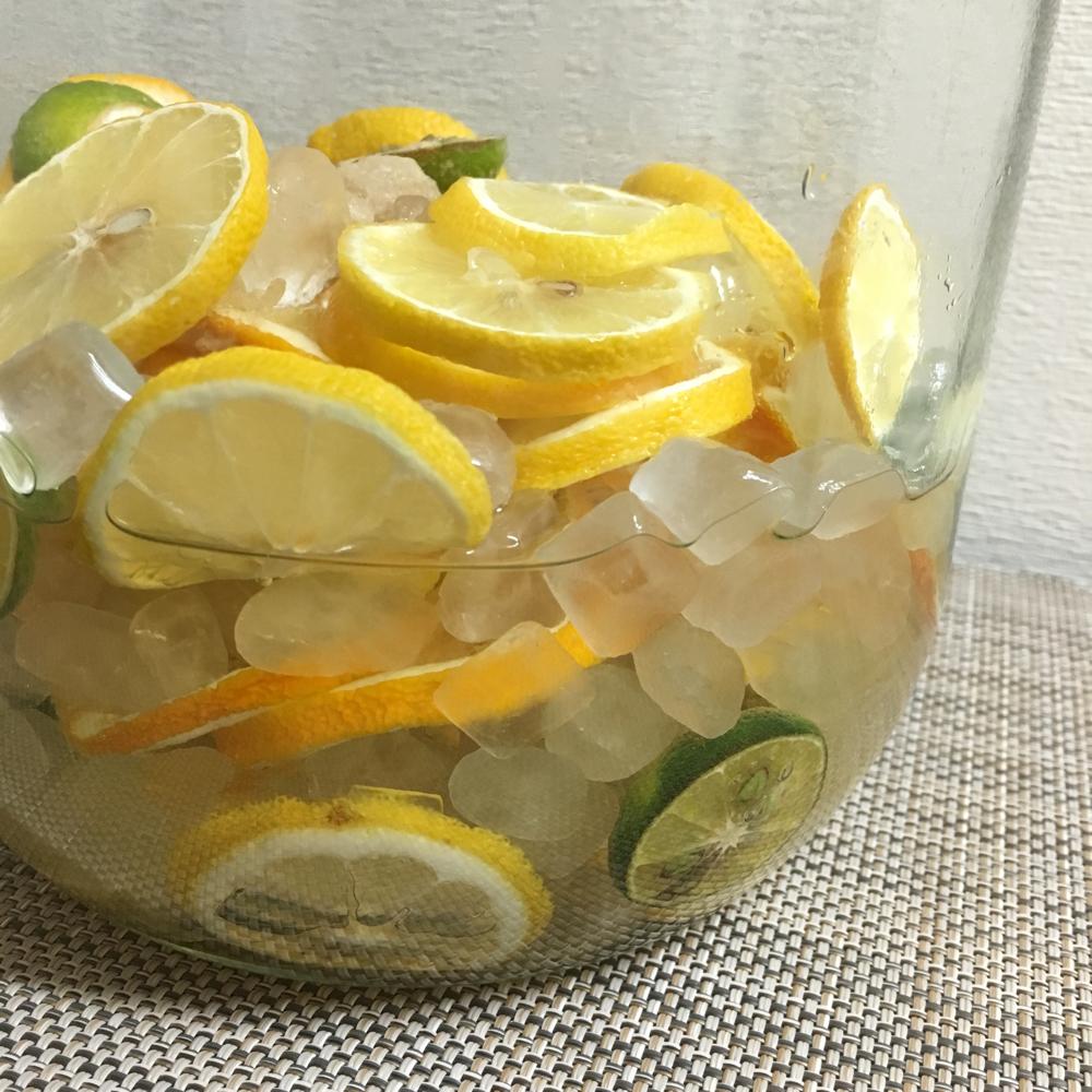 キウイとレモンの自家製シロップ